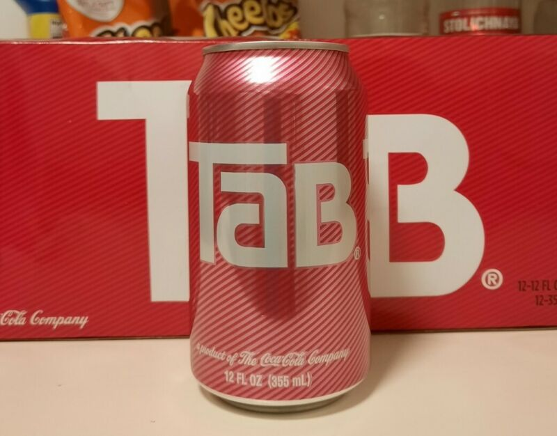 TAB COLA ONE CAN FRIDGE PACK 12 OZ EACH NEW IN BOX DIET SODA DISCONTINUED COKE