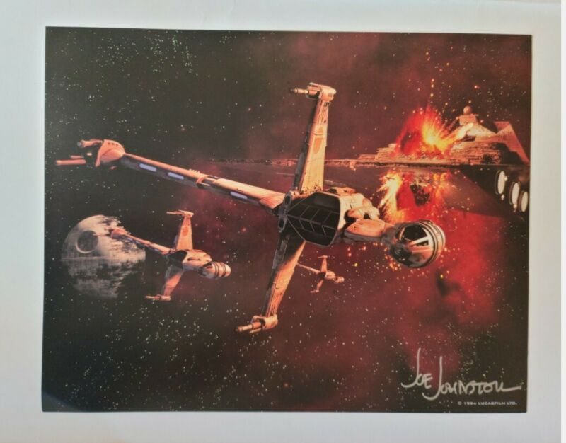 Joe Johnston Autographed 11x14 Star Wars Trilogy 1994 Lobby Card_T Wing Fighter