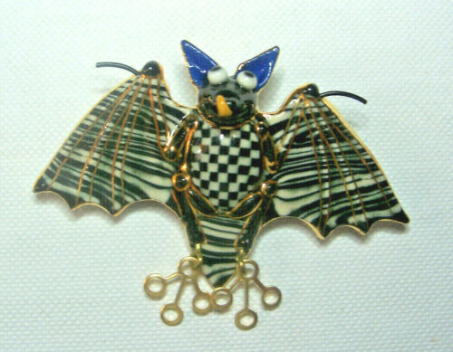 Cynthia Chuang Jewelry 10 Porcelain Bat Pin Never Worn Mint Condition