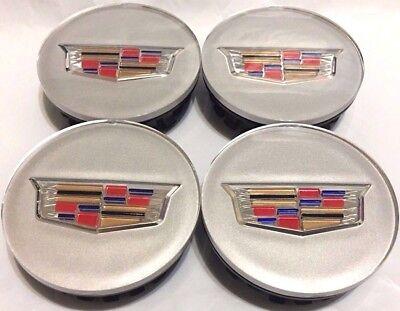 4 pcs Wheel Emblem Center Hub Cap 66MM Black Color Crest For Cadillac 9597375