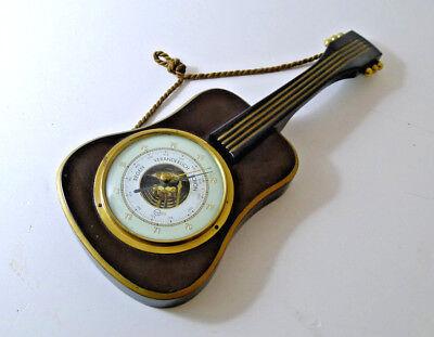 TOP WETTERSTATION Barometer Gitarrenform, 50er Jahren Vintage Wanddeko Barigo