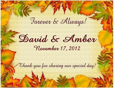15 Fall Autumn Wedding Favors Magnets Personalized