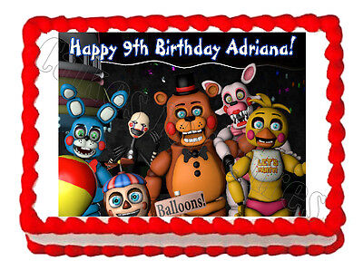 Five Nights At Freddys Fnaf 3 Party Edible Cake Image Topper Frosting Sheet