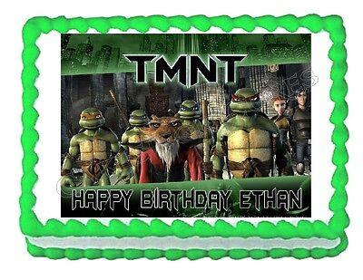TMNT Teenage Mutant Ninja Turtles edible cake image party cake topper decoration - Teenage Mutant Ninja Turtles Cake Decorations