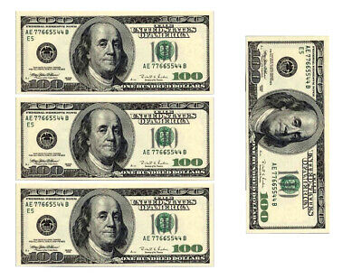 Dollar Bill Cake (One hundred dollar bill replicas money edible cake image cake decoration)