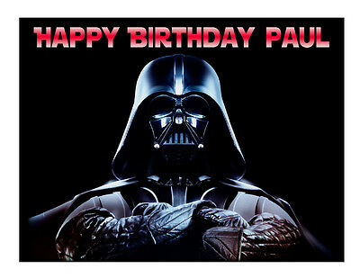 Star Wars Darth Vader edible cake image topper party cake decoration sheet