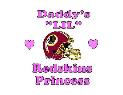 Daddy's LIL Redskins Princess Washington girls NFL tshirt one piece Fathers - Lil Princess