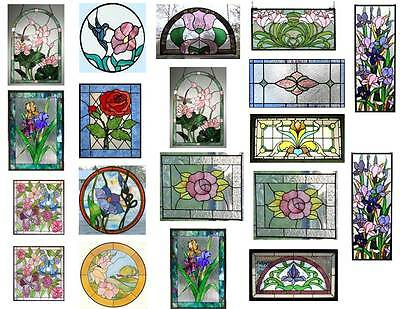 Dollhouse Miniature Shabby Chic Stained Glass Windows On Clear Stickers 1:12