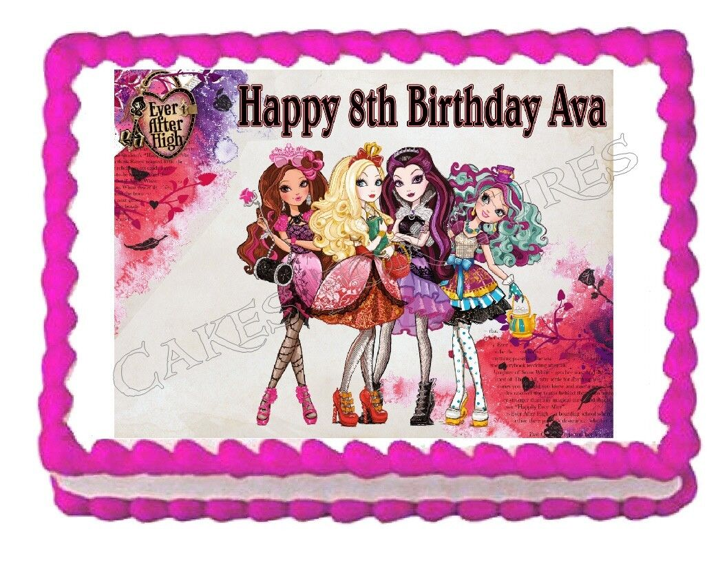 Ever after high edible party cake topper decoration cake for Angelina ballerina edible cake topper decoration sale