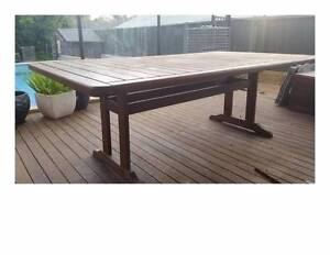 Outdoor timber dining table and chairs Dubbo Dubbo Area Preview