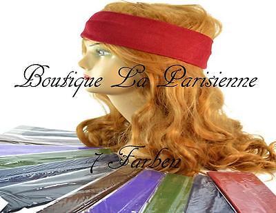 Haarband Bandana Stirnband 6-6,5 cm Breit 7 Farben Schwarz Bordeau Dunkelbraun