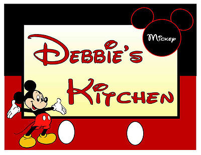 PERSONALIZED MICKEY MOUSE KITCHEN - Kitchen Magnets