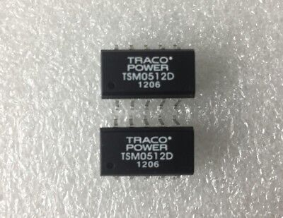 Lot (2 psc) TRACO POWER TSM 0512D Isolated DC/DC Converters 5VDC to +/-12VDC Psc Power Converter