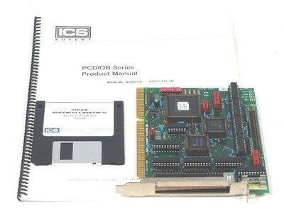 Used Industrial Computer Source Pcdio24b48b-p Interface Board W Driver Disk