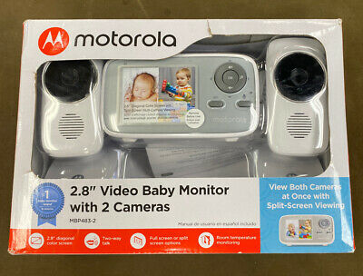 """Motorola (MBP483-2) - 2.8"""" Video Baby Infant Monitor w/ Two Cameras...FREE S&H!!"""