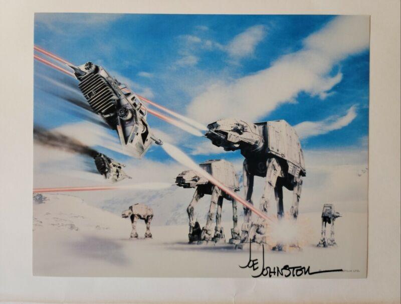 Joe Johnston Autographed 11x14 Star Wars Trilogy Lobby Card_ AT-AT Walker Hoth