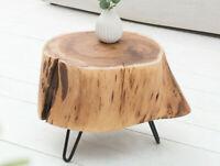Divero SGABELLO Suar Sgabello Legno Sgabello in legno massello se non trattata Sgabello da giardino