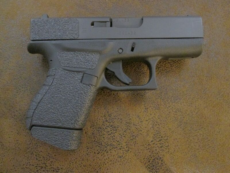 Black Textured Rubber Grips for the Glock 43 9mm
