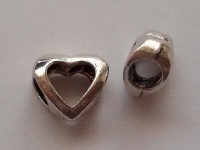 5/10/15 Herz Beads Großloch Perlen Paracord Armband Großlochperlen H02