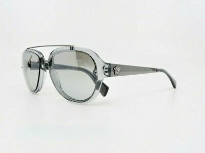 VERSACE Mens Aviator Clear & Silver Sunglasses w/ Box MOD 4327 5206/6V 57mm