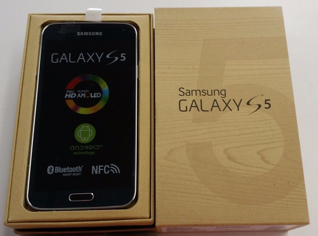 New Samsung Galaxy S5 SM-G900a Black At&t (Unlocked) -16Gb Android Smartphone