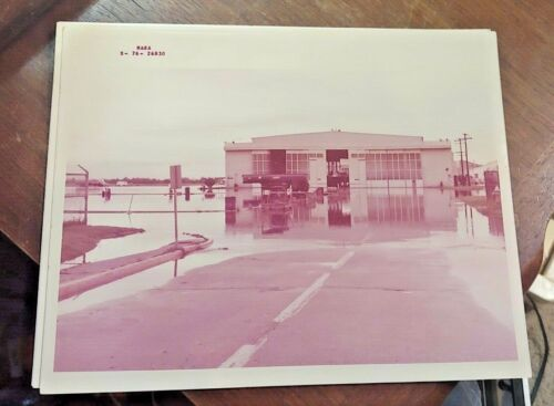 Vintage NASA Photograph Of Flooded Space Center Free Shipping