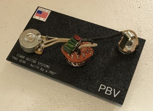 P-Bass wiring harness with rotary varitone style tone switch! NEW!
