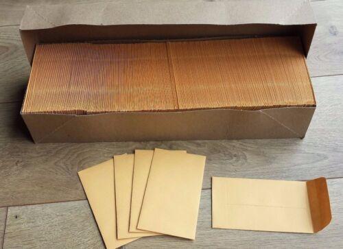Lot 25 Coin #3 Envelope 2.5 x 4.25 Kraft 24lb Uline S-6285 2 1/2 x 4 1/4 Gummed