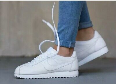 Nike Classic Cortez Leather 807471-102 White Size UK 5.5 39 US 8 Genuine Ladies