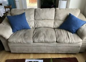 Suede Loveseat & Couch