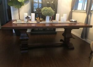 Harvest Trestle Table with 6 chairs
