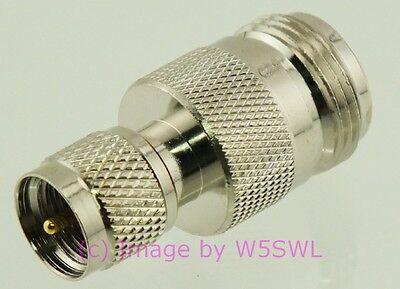 Coax Adapter Mini-UHF (MUHF) Male to N Female - by W5SWL ®