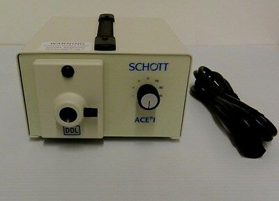 New Schott Ace 1 Light Source A20500.2 Ddl Lamp Fiber Optic Illuminator