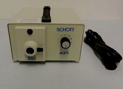 New Schott Ace 1 Light Source A20500.2 Ddl Lamp Fiber Optic Illuminator
