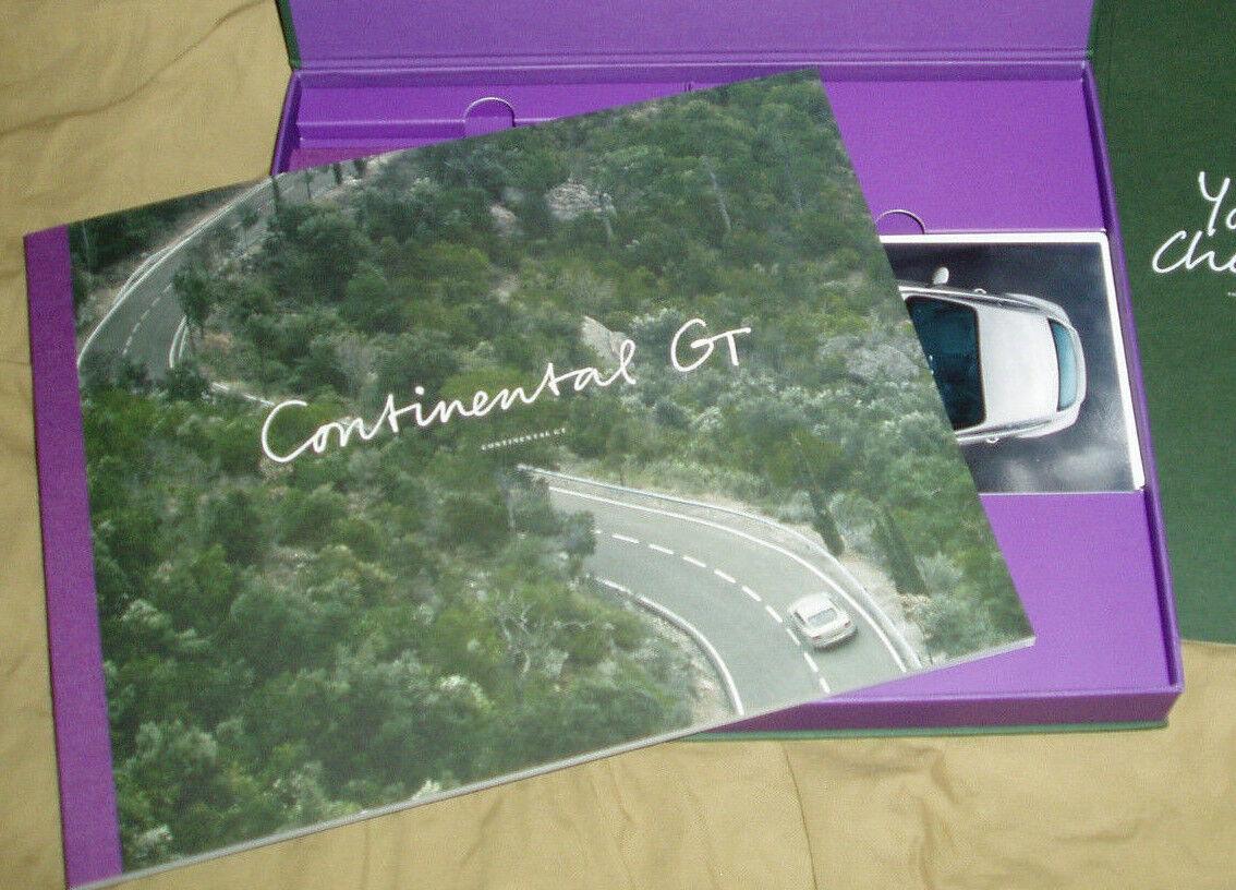 2012 BENTLEY CONTINEAL GT brochure - configuration box - brochure Prospekt - NOS