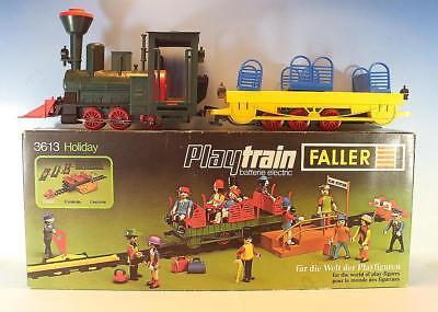 Faller Playtrain 3613 Dampflok PT 77 mit Personenaussichts-Wagen in Box #7659