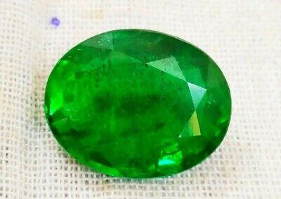 8.09 ct 100% Natural Certified  Zambian Emerald Oval Loose Gemstone