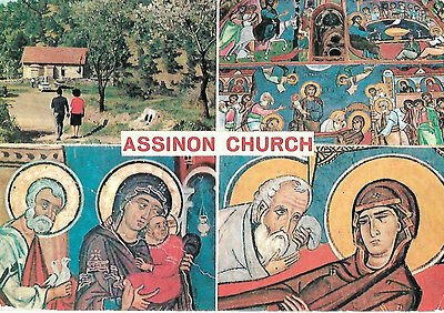 POST CARD  - ASSINOU CHURCH NICOSEA BYZANTINE IKONS HOLY  JESUS CHRIST - INCENSE