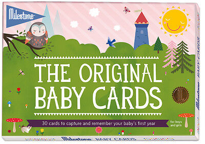 Milestone BABY CARDS Newborn Child Christening New Baby/ Baby Shower Gift BN