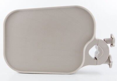 New Tpc Pole Post Mount Utility Access Shelf Tray Table Medical Tattoo Spa Beige