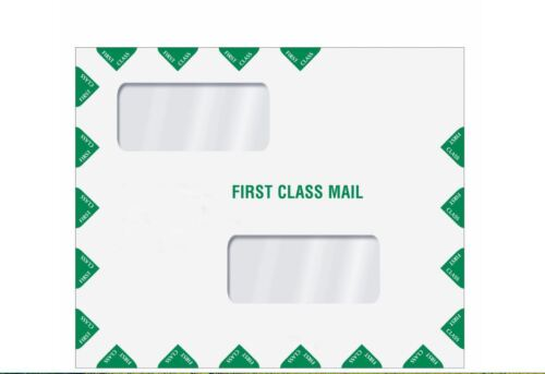 Double Window First Class Tax Return Filing Envelope ENV400 100/lot