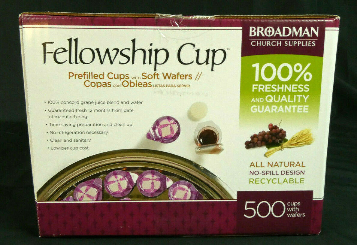 Fellowship Cup Prefilled Juice/Wafer Box Of 500 5liw - $70.08