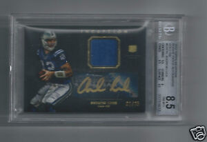 Andrew Luck RC Auto Patch 1/25 BGS Graded NMMT Topps Inception Gold