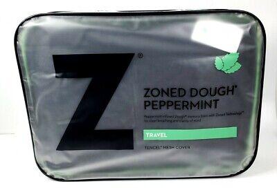 MALOUF Travel Zoned DOUGH Memory Foam Pillow Peppermint