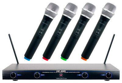 Vocopro VHF-4005 4 Channel Rechargeable VHF Wireless Mic System