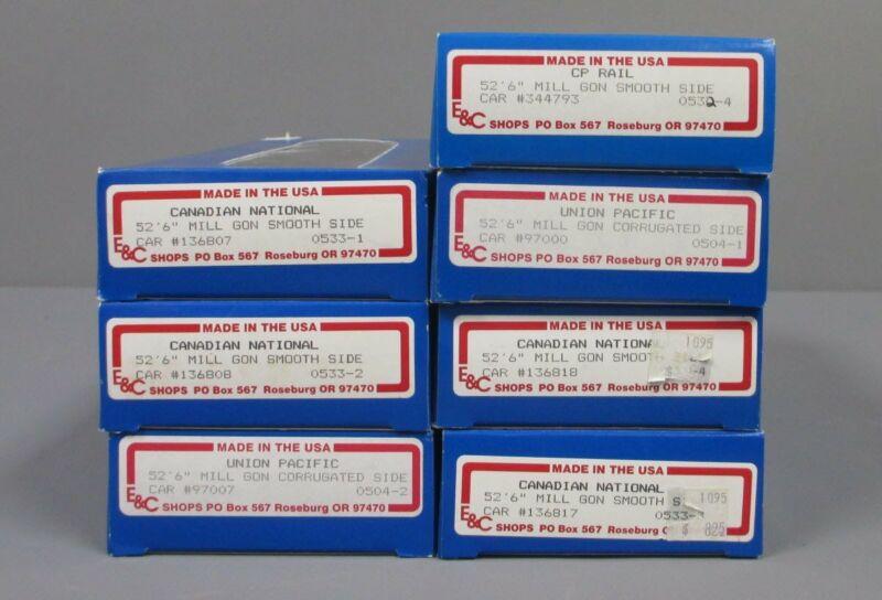 E&C Shops HO Scale Freight Car Kits (7) LN/Box