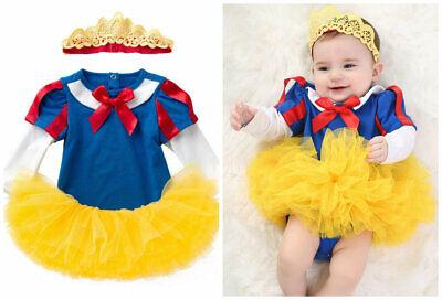 Baby girls birthday Halloween party costume girls bodysuit +headband+skirt (Baby Halloween Tutus)