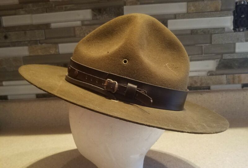 Vintage Boy Scouts Official Scoutmaster Scout Master Hat Size 7, antique America