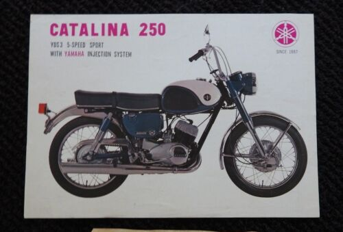 GENUINE 1964 1965 1966 1967 YAMAHA YDS 3 250 MOTORCYCLE SALES BROCHURE VERY NICE