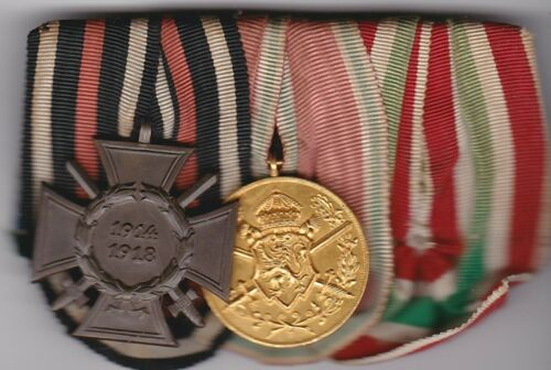 Original German WWI Combat - WWII era 3 Place Medal Bar missing 1939 Memel Medal